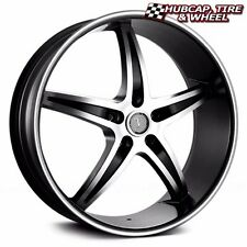 "VELOCITY VW925A BLACK MACHINED 20""X7.5 CUSTOM WHEELS RIMS (set 4) FREE US SHIP"
