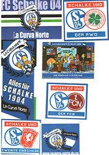 Schalke 04 S04 Sticker Ultras Fanclub 7 Stück Fanfreundschaft FCN Twente RWO