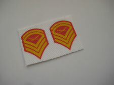 """Action Man Figure Marine chevrons for dress blues Fabric Patches 12"""", 1/6 Scale"""