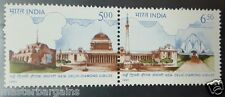 India 1991 se tenant New Delhi diamond jubilee mnh white gum - ref sb