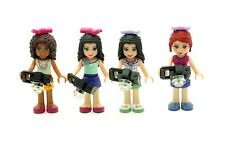LEGO Set of 4 Friends Figures with Cameras NEW includes Andrea