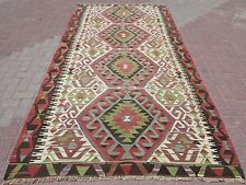 "Anatolia Turkish Nomads Antalya Kilim 61,8"" x 123,6"" Area Rug Carpet , Kilim Rug"