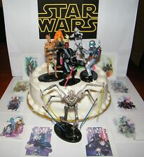 Disney Star Wars Cake Toppers Set of 6 and 10 Party Favors Darth Maul