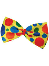 Circus Clown's Jumbo Bow Tie Spotted Multi One Size Spotty Fancy Dress Accessory