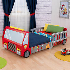 Fire Truck Toddler Bed Kids Youth Boys Fireman Bunk Play Toy Bedroom Furniture