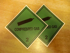 "100mm ""Compressed Gas 2""  decals stickers self-adhesive  - Van 