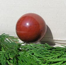 Red Jasper Solid Crystal Sphere - 40mm Diameter Complete with Stand