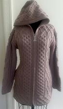 ARAN CRAFTS Ireland Merino Wool Women's Trinity Sweater Coat Extra Small XS EUC!