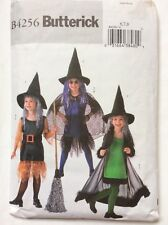 Butterick B4256 Girls Halloween Witch Fancy Dress Costume Pattern Bust 25-26-27""