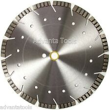 "14"" Laser Welded Diamond Saw Blades For Asphalt Concrete Multi Purpose-12MM"