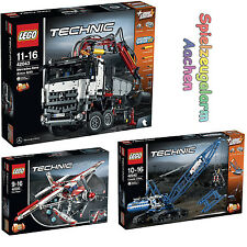 LEGO TECHNIC Set 42040 Löschflugzeug 42042 Seilbagger 42043 Mercedes Benz Arocs
