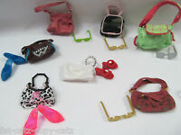 SET OF 20 BARBIE SINDY DOLL CLOTHING ACCESSORIES 10 x HANDBAGS SHOES SUNGLASSES