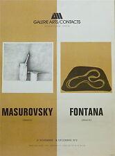 Gregory Masurovsky Lucio Fontana dessins affiche litho Paris 1972 galerie P 725