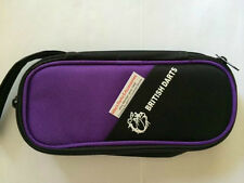 PURPLE LARGE ZIPPER DART CASE WITH PLASTIC INSERT TO HOLD FULLY LOADED DARTS