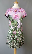 Ted Baker Eoessa tunic dress Natural Kingdom Geo floral print Size 1 UK 8