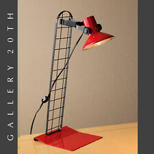 FAB! MID CENTURY MODERN RED DESK LAMP! Italian Stilnovo Vtg 80s Lighting Atomic