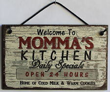 Momma s Sign Kitchen Grandma Diner House Mom Bake Cook Cookie Grand Parent Home