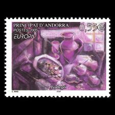 Andorra 2005 - Eurostamps: Gastronomy Foot Painting - Sc 597 MNH