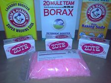 ORIGINAL 10 Gallon DIY Laundry Soap Detergent Kit ZOTE Washing Baking Soda Borax