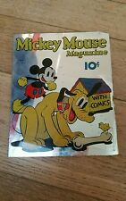 glace miroir vintage journal de mickey mouse comics magazine 10 c walt disney