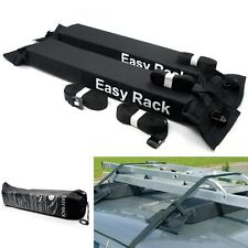 UNIVERSAL PADDED SOFT CAR ROOF RACK BARS for LUGGAGE LADDER BEARING THE LOAD