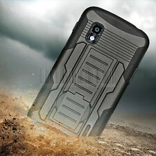 Armor Hybrid Rugged Case Stand Impact Cover Holster For Google LG Nexus 4 E960