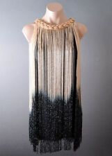Womens Cocktail Ombre Fringe 20s Flapper Great Gatsby Theme Party Dress S M L