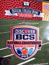 NCAA 2013 Discover BCS National Championship Bowl Patch Alabama Notre Dame