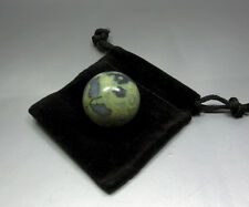 "Small Rainforest Rhyolite Sphere W/ Pouch - 1"" / 25mm - Crystal Healing"