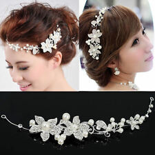 Pearl Flower Crystal Rhinestone Wedding Bridal Headband Clip Hair Band Tiara Hot