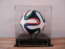 Display Case For A Cristiano Ronaldo Autographed Soccer Ball