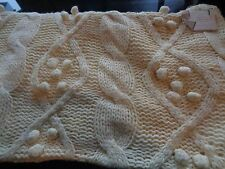 Pottery Barn 16 X 26 bobble knit ivory lumbar chunky fisherman New with tags