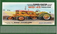Reproduction of Lionel Billboard Allis Chalmers Power Crater WD - 45 Tractor