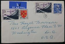 France 1953 Multistamp Airmail Cover To Ashgrove Place, Washington DC, USA