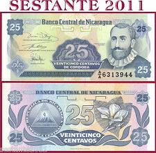 NICARAGUA  -  25 CENTAVOS 1991 - Prefix AA - Sign Variety 1 -  P 170 - FDS / UNC