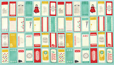 Moda Eric & Julie Comstock Baby Jane Panel of Quilt Label Tags 37060-13 Fabric