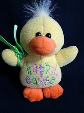 "Plush Duckling 6"" HAPPY EASTER Yellow Stuffed Animal Toy Duck 1999 GAC"