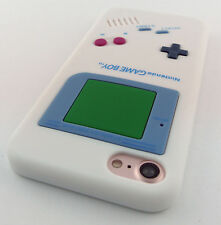 WHITE FUN GAME BOY GAMEBOY SILICONE RUBBER SKIN CASE COVER APPLE IPHONE 7