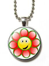 Magneclix magnetic pendant-Cute Smiley Flower