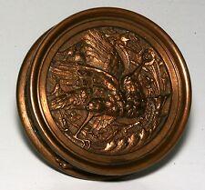 """1880'S ANTIQUE VICTORIAN """"HUMMINGBIRD"""" BRONZE DOOR KNOB, VERY RARE & BEAUTIFUL!"""