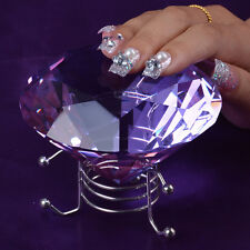 Purple Crystal Diamond Manicure Hand Pillow Rest Holder Nail Art Salon Use Stand