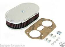 56-1160 K&N CUSTOM AIR FILTER KIT FOR WEBER 36/40/44 IDF/IDA CARBURETORS