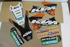 FLU DESIGNS PTS TEAM KTM GRAPHICS  05 06 SXF MXC SX & 06 07 EXC XC XCFW  XCF