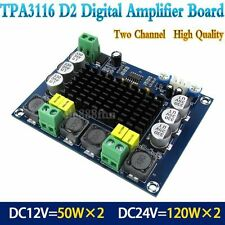 DC 12V 24V TPA3116 D2 120W+120W Dual Channel digital Power audio amplifier board