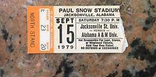 1979 Jacksonville State University Ticket Stub Versus Alabama A&M  Football