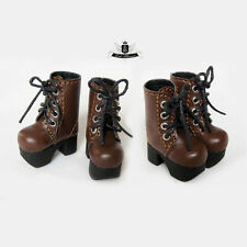 1/12 BJD Shoes LATI Dollfie DIM DOD AOD SOOM Shoes Tiny Brown Boots 2.9cm #009