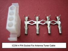 ICOM 4 pin AT ATU Antenna Tuner Socket ATU IC260 Power Plug IC8500 Jumper