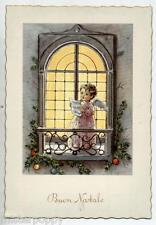 Angelo con Spartito Musica Finestra Cute Angel at Window Music PC Circa 1950