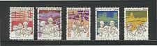 SINGAPORE 1984 TOTAL DEFENCE COMP. SET OF 5 STAMPS SC#448a-e IN FINE USED CONDIT