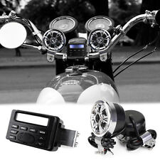 Bike Motorcycle Radio Audio FM MP3 Stereo Sound System Speakers Waterproof Motor